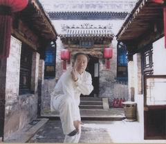 Grandmaster Yang Fansheng performing the martial art system of Xingyi Quan.