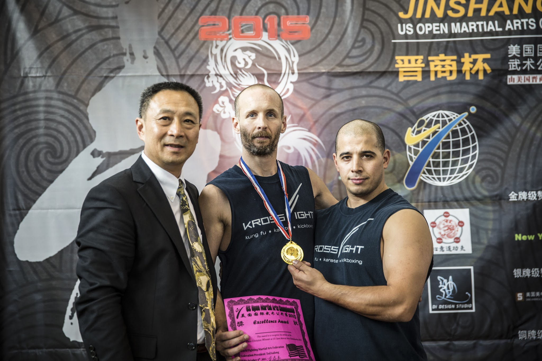 Medal award 2015 photos at the US Open Martial Arts Championship organized by the WFMAF.
