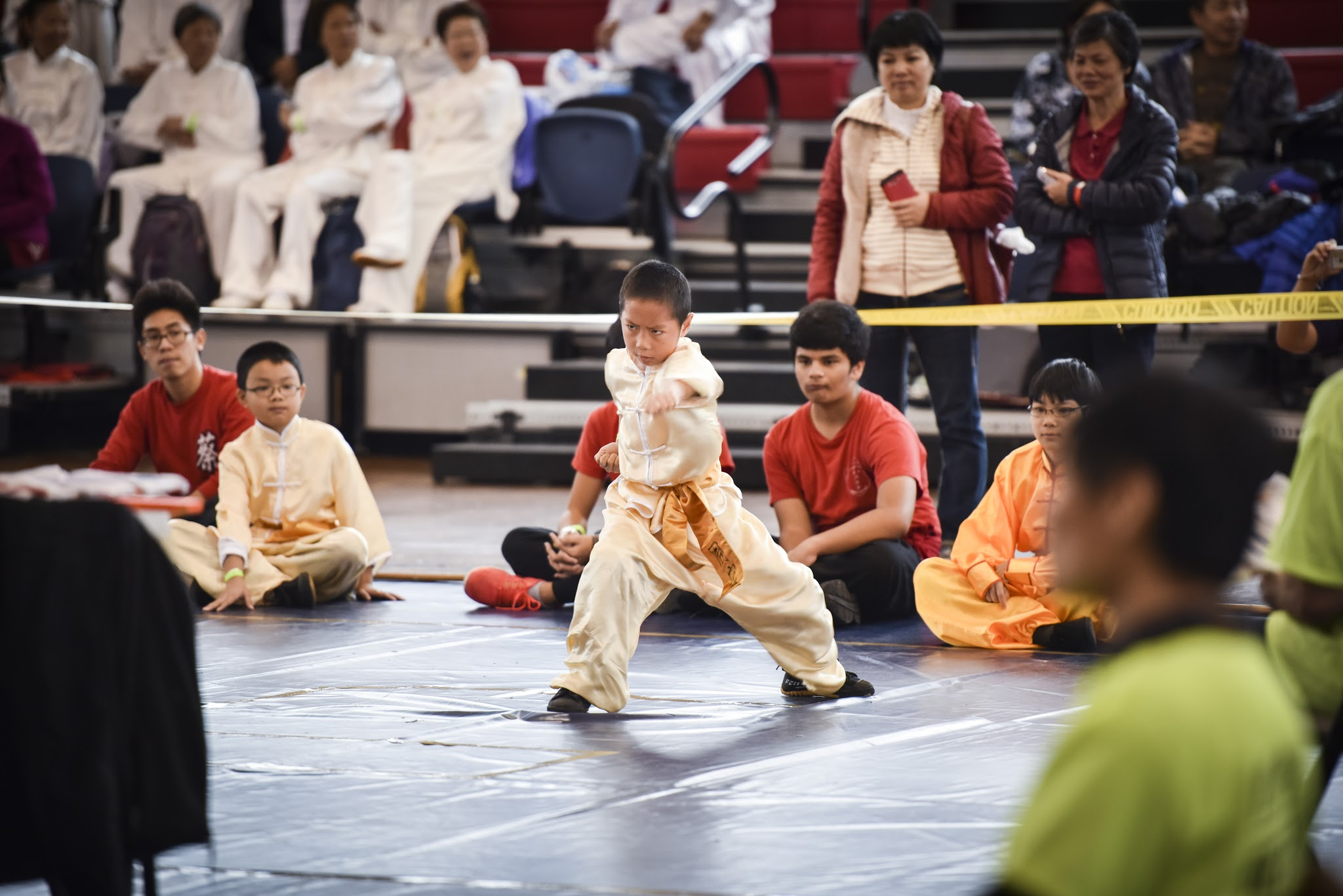 Youth competitor performing Southern Kung Fu at the US Open Martial Arts Championship, organized by the WFMAF.