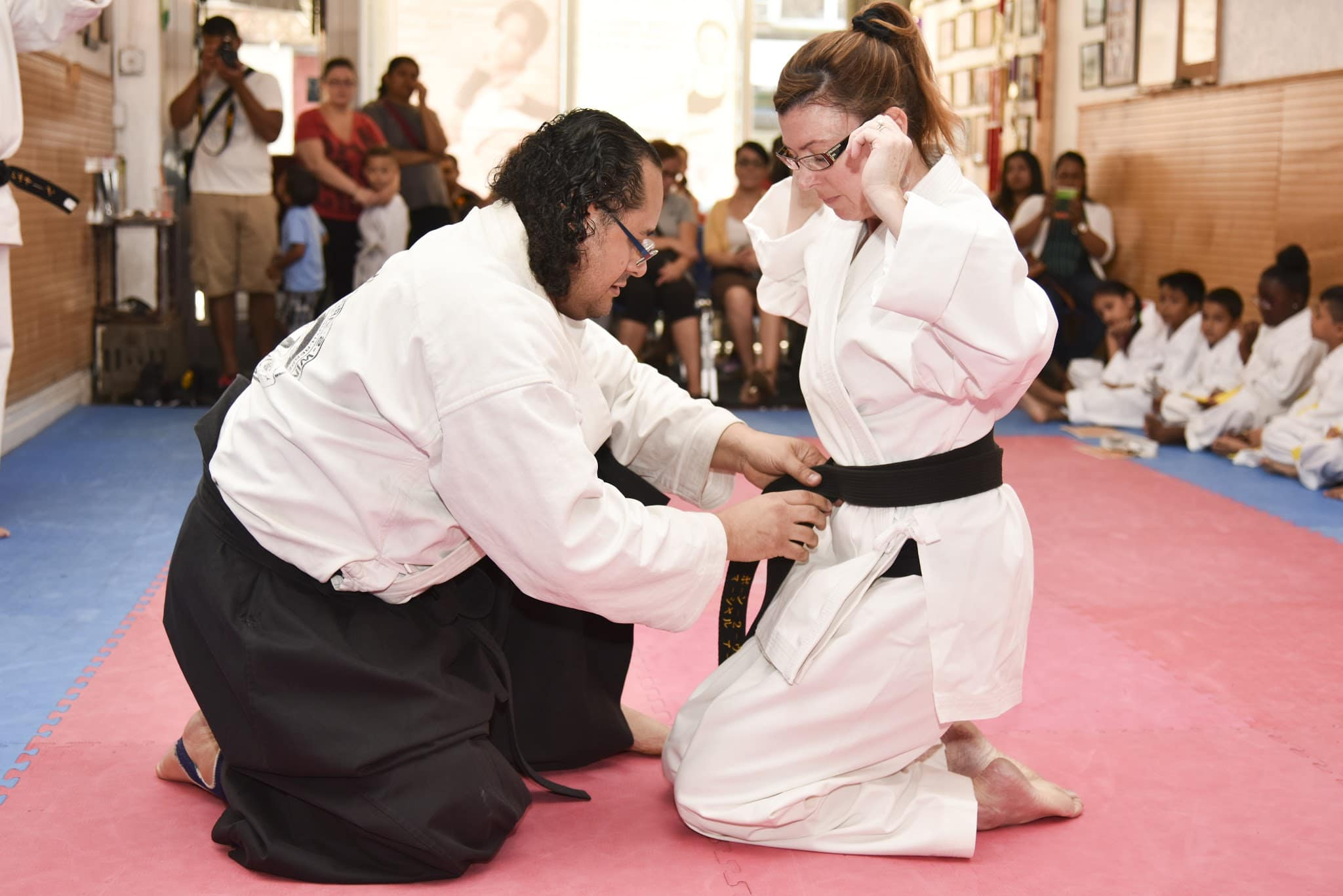 Black belt ceremony conducted by the World Fighting Martial Arts Federation