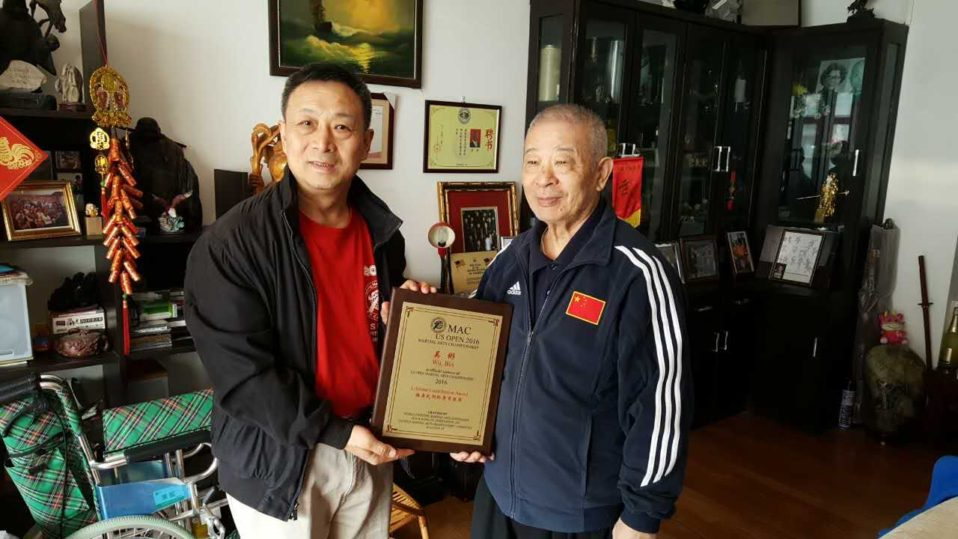 President of the WFMAF presented special contribution award to Grandmaster Wu Bin