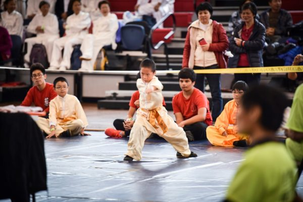 Children's martial arts forms performed at The US Open Martial Arts Championship