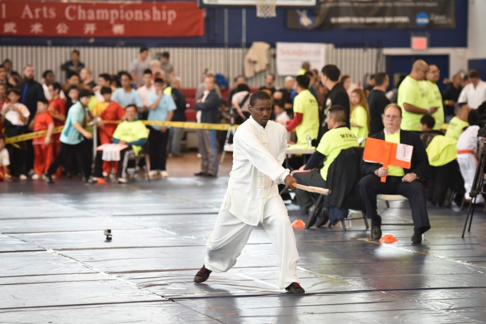 The US Open Martial Arts Championship long stick form performance