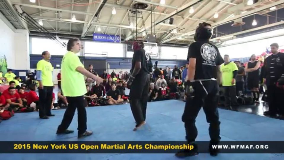 Intermediate level sparring at the U.S. Open Martial Arts Championship (USOMAC) organized by the WFMAF