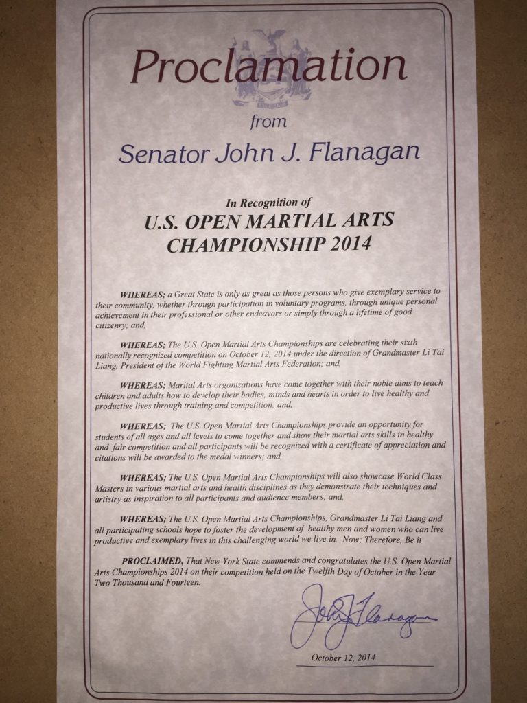 Proclamation 2014 - Senator John Flanagan