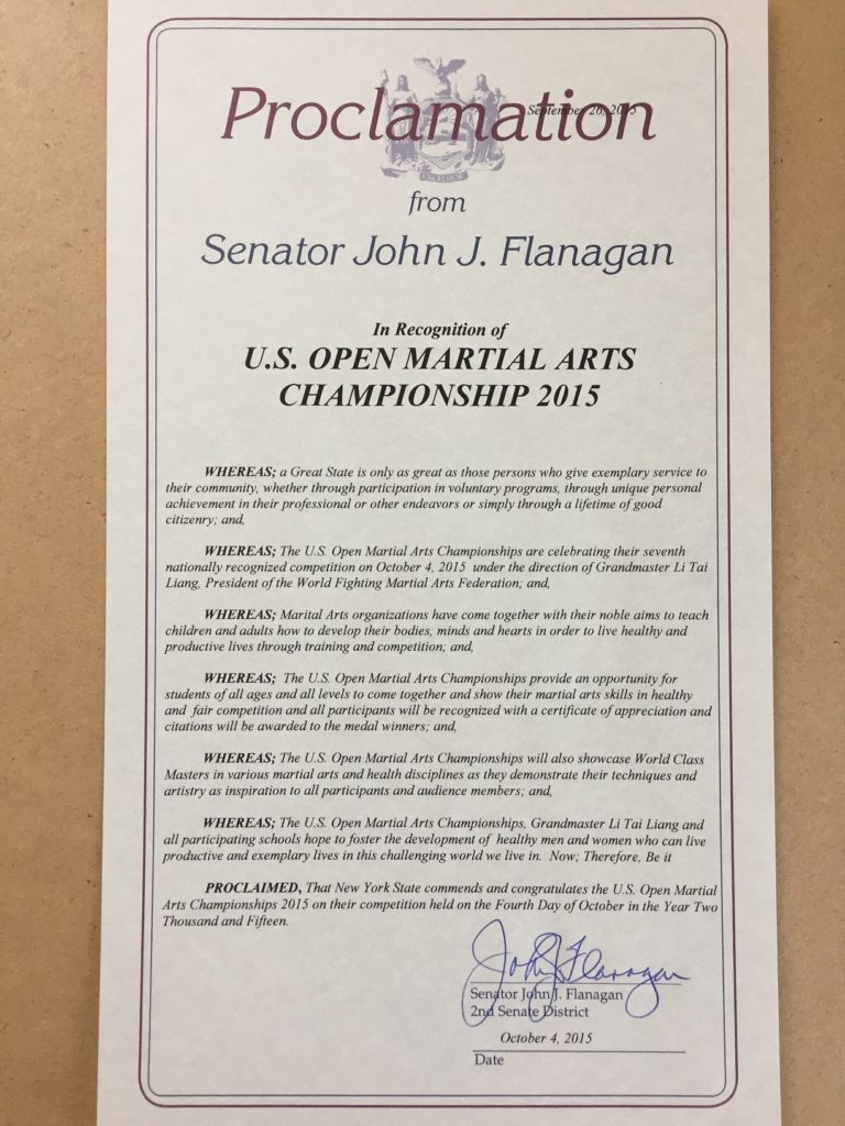 Proclamation 2015 - Senator John Flanagan
